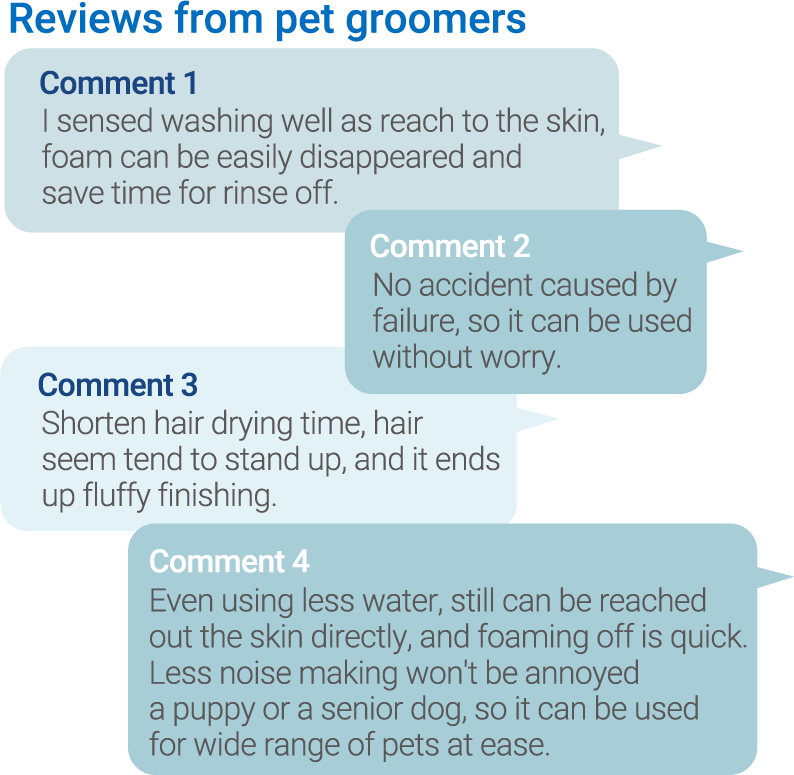 Reviews from pet groomers