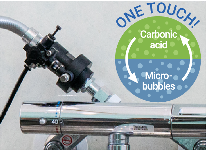 Change to carbonated water with one-touch!